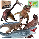 5PC Jumbo Dinosaur Toys, Hand-Colored Dinosaur Model Toys Gifts for Boys and Girls Aged 4 5 6 7 8 9
