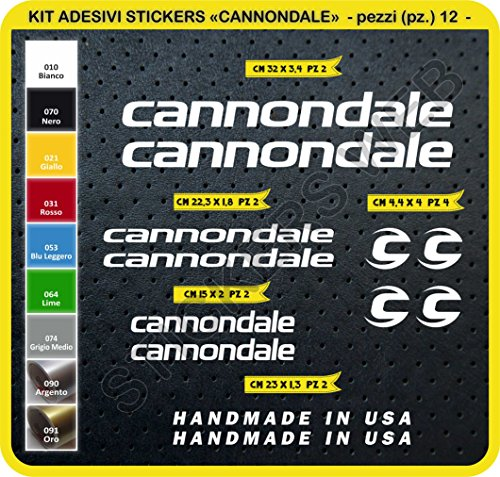 Pimastickerslab sticker voor fiets Merida Kit sticker 24 stuks -Scegli SUBITO Colore- Bike Cycle Pegatin cod.0104