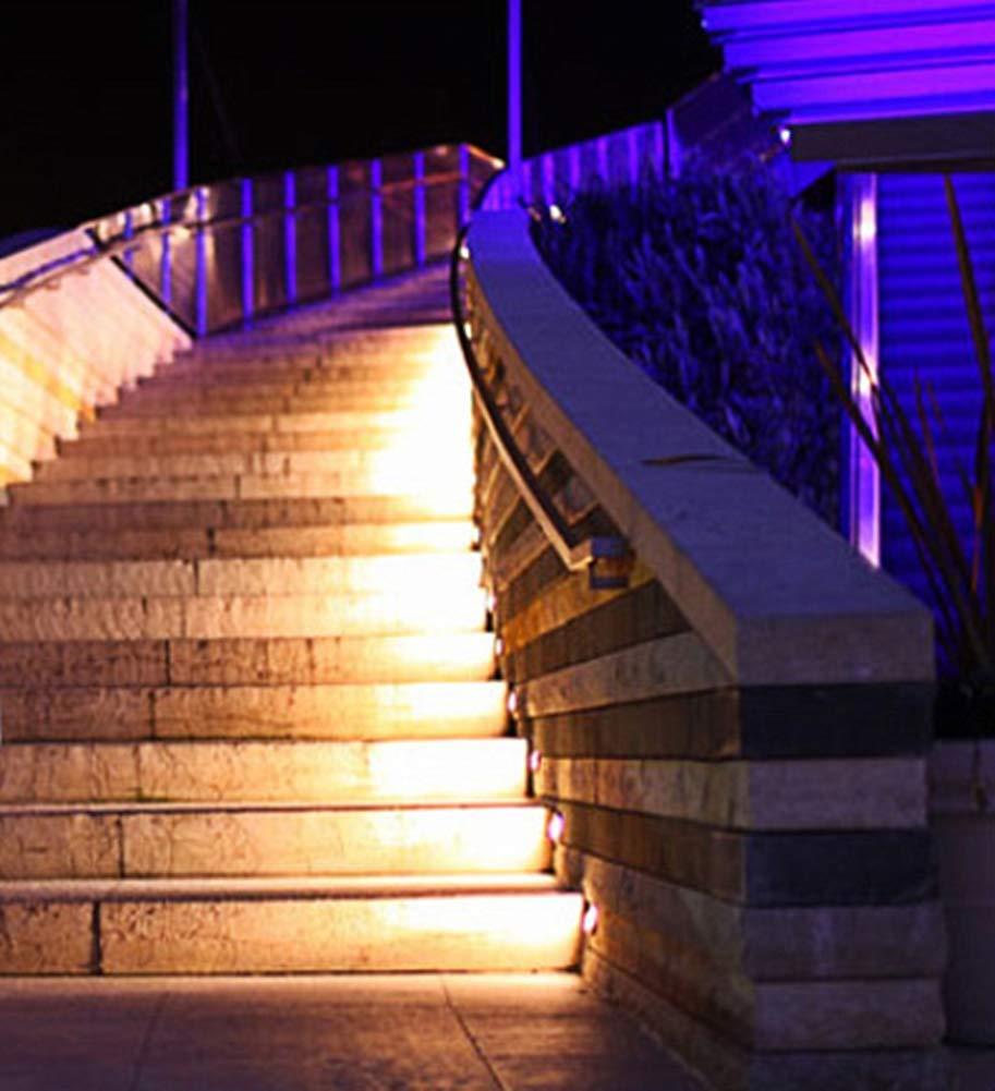 Phil Wall Lamp Luz Exterior Led 2 Grupos Luz Subterranea Iluminación Lateral Escalera Luz De Césped Impermeable Lámpara De Baja Tensión 5-12w,whitelight18*9cm: Amazon.es: Hogar