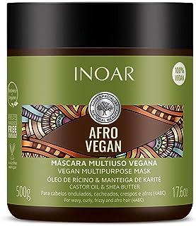 Inoar Máscara Afro Vegan com Óleo de Rícino e Manteiga de Karité 500g, Inoar