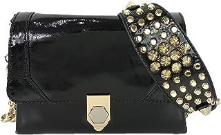 Rebecca Minkoff Jax Studded Patent Leather Crossbody, Black