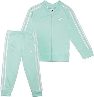 adidas girls tricot zip jacket and pant set