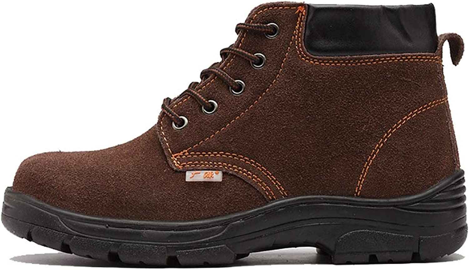XBXZ safety shoes Black Hammer Mens Safety Boots Steel Toe Cap Work shoes Ankle Trainers Hiker Midsole Predection work boots (color   A, Size   37)