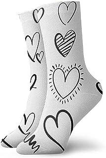 iuitt7rtree Colección de diseños de Corazones de Amor para el día de San Valentín Dos Calcetines Deportivos para Correr De...