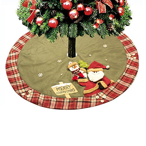 Proumhang 120cm Couvre-Pied de Sapin Jupe d'arbre de Noël Sapin Décoration Noël 48 inch