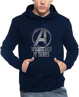 ADRO Men's Super Hero Avengers Printed Hoodies (Navy Blue)