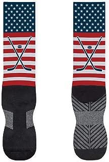 USA Stars and Stripes Printed Mid Calf Socks   Hockey Socks by ChalkTalkSPORTS   Multiple Sizes