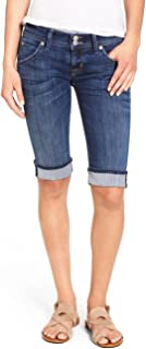 Hudson Women's Palerme Knee Cuffed Short in Alabaster Daze 2