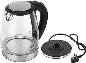 FANHUA 1.7L Glass Electric Kettle Tea Heater Boiler with LED Indicator Light Household Kitchen Appliances UK Plug 220V (Co...