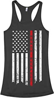 Women's Honor & Respect Thin Red Line Flag Racerback Tank Top