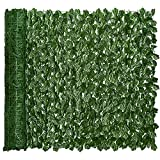 DearHouse Artificial Ivy Privacy Fence Screen, 98.459.1 inch Artificial Hedges Fence and Faux Ivy Vine Leaf Decoration for Outdoor Garden Decor