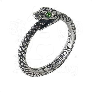 Alchemy Gothic 英国A牌 索菲亚蛇 The Sophia Serpent 英国925白锡水晶戒指 R206