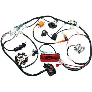 Amazon.com: Complete Electrics 4 Stroke ATV QUAD 150 200 250 300CC Wiring  Harness CDI 8 Coil Stator Tail Light Zongshen Lifan: AutomotiveAmazon.com