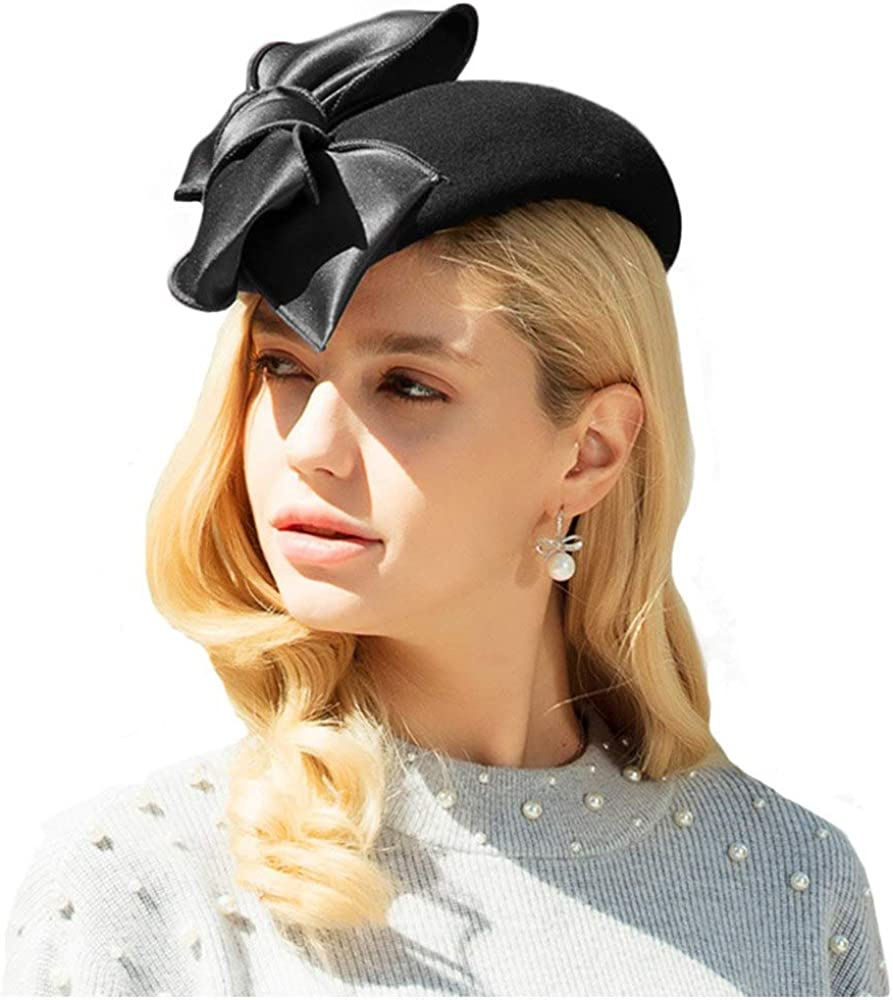 F FADVES Vintage Limited Special Price Be super welcome Cocktailhat Church Felt Hat Fascin Wool Pillbox