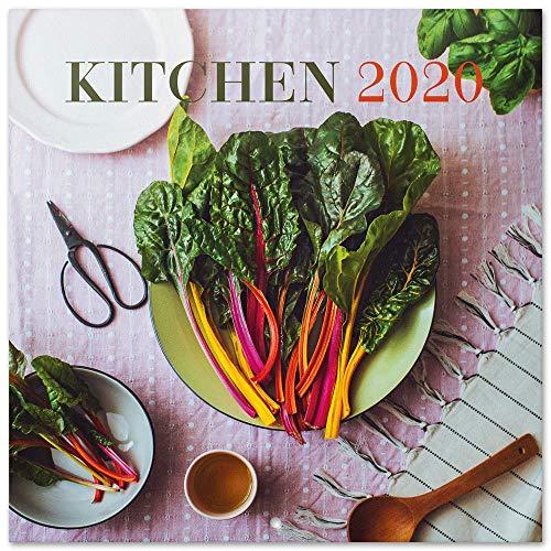 Erik® - Calendario annuale 2020 da muro, ideale per casa, ufficio o per la tua cucina 30x30 cm - Kitchen