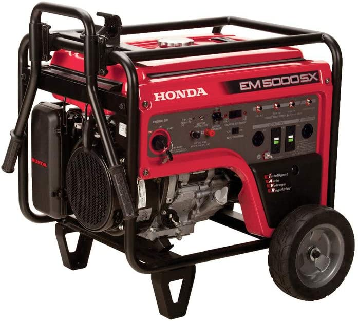 Honda 663640 EM5000SX 120V/240V 5000-Watt 389cc Portable Generator with Co-Minder