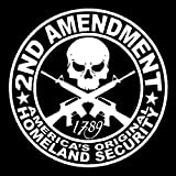 2nd Amendment Vinyl Decal Car Truck Window Sticker Southern Rebel Battle America, Die Cut Vinyl Decal for Windows, Cars, Trucks, Tool Boxes, laptops, MacBook - virtually Any Hard, Smooth Surface