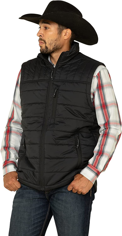 Cody James Men's Core Man Grove Quilted Puffer Vest Big Black 3X