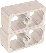 1-1/2 Inch Aluminum Extruded Leaf Spring Lowering Blocks - 2 Pack
