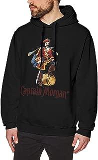 CristieVSlade Captain Morgan Mens Hoodies Long Sleeve T-Shirt Pullover Hooded Sweatshirt