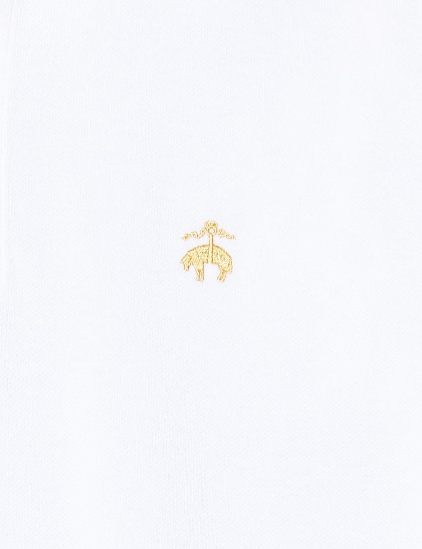 Brooks Brothers Herren Polo Slim Logo Manica Corta Poloshirt Weiß(white 100)
