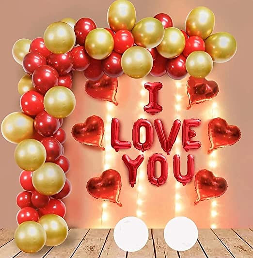 Modo Solid I Love You Red foil balloon for Birthday & Anniversary Balloon Decoration