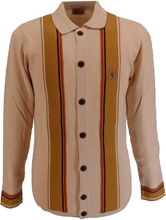 Men's Vintage Sweaters, Retro Jumpers 1920s to 1980s Gabicci Vintage Retro Long Sleeved Cardigan £69.99 AT vintagedancer.com