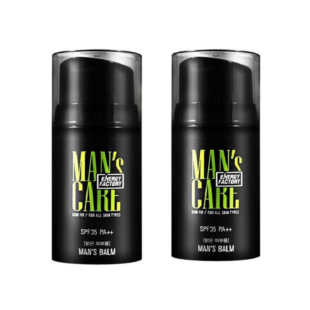 繰り返し悩み同封するメンズケアエネルギーファクトリースキンフィット?マンズ?Balm 50ml x 2本セット(明るい肌用、暗い肌用) メンズコスメ、Man's Care Energy Factory Skin Fit Man's Balm 50ml x 2ea Set (Bright Skin、Dark Skin) Men's Cosmetics [並行輸入品] (Bright Skin)