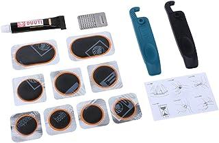 MagiDeal Portable Multi Function Bike Tire Tyre Puncture Repair Kit Sticker Repair Maintenance Rasp Tool for Mountain Bike
