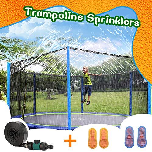 HONYOU Trampoline Sprinkler Waterpark for Kids ,Summer Outdoor Water Game Toys. 39FT
