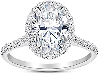 1.23 Carat GIA Certified 14K White Gold Halo Oval Cut Diamond Engagement Ring (0.73 Ct E Color VS1 Clarity Center)