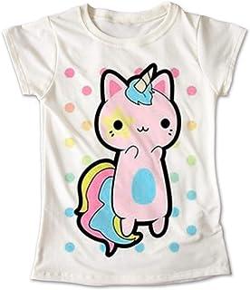 Blusa Unicornio Colores Playera Estampado Gato Rosa 042 3fce74eae0dd5