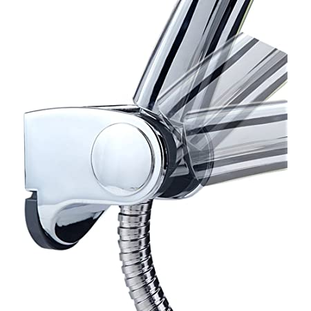 simpletome Handbrause Halterung Verstellbar Brausehalter Duschhalterung f/ür Handbrause oder Duschkopf F/ür Badezimmer Edelstahl SUS304 45/° drehbar Verchromt