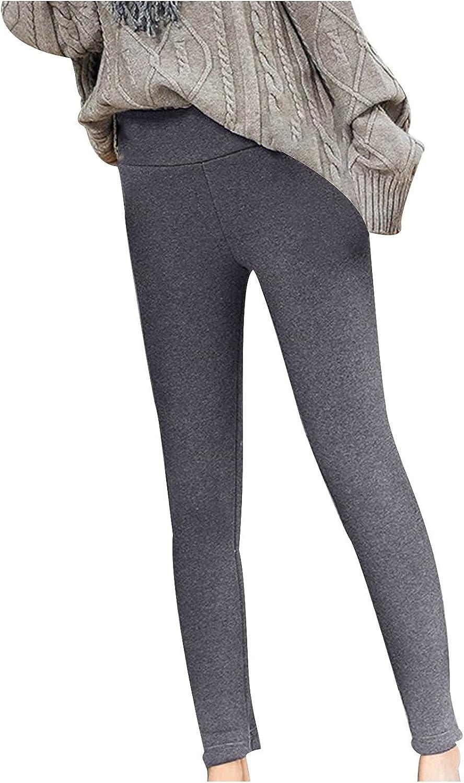 Plush Super Thick Cashmere Leggings Trousers High Waist Winter W