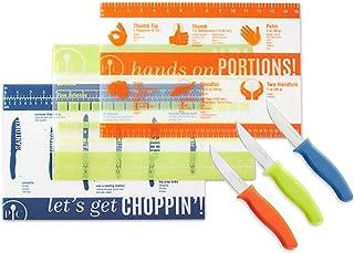 Pampered Chef - Kitchen Bundle - 3 pc Flexible Cutting Mat Set and 3 pc Kitchen Paring Knife Set