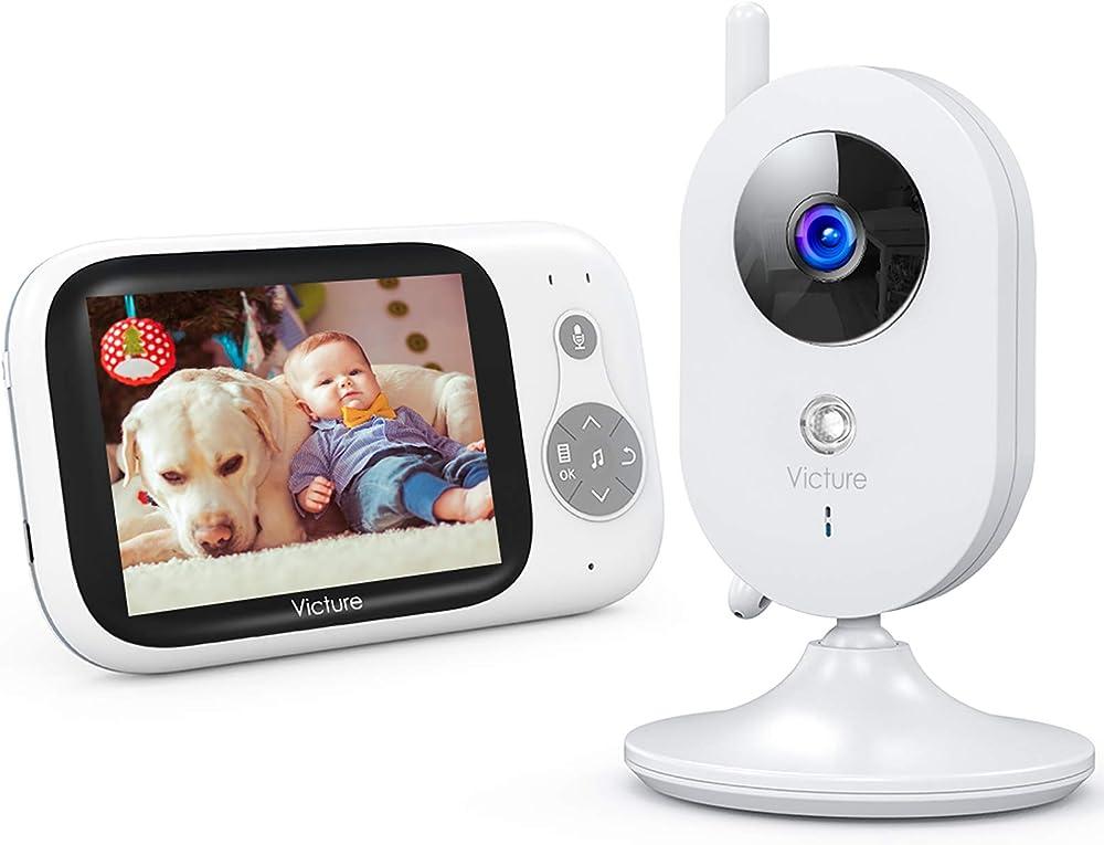 Victure baby monitor, videocamera babyphone con vox notturna visione di temperatura 8 ninne nanne audio a 2 vi BM32