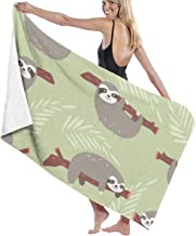 Jxrodekz Quick Dry Beach Towel Cute Jungle Sloths Super Water Absorbent Multi-Purpose Beach Towel for Swimmers,Bath Towels for Kids & Adults, Pool, Water Sports