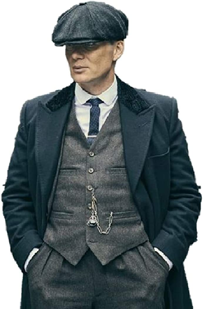 Men's Animer and price revision Thomas Shelby Movie Max 53% OFF P B Black Long Woolen Coat Trench Jack