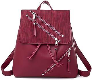 حقيبة ظهر نسائية من كايكسياوتينغ حقيبة ظهر للحاسوب المحمول حقائب عمل ديستاف (اللون: كاكي)