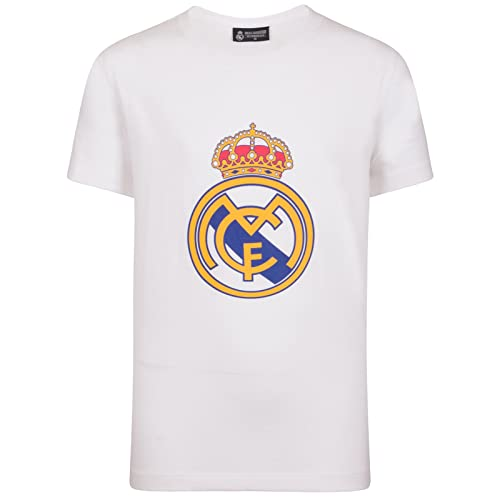 5ec7986ca Real Madrid Official Football Gift Mens Crest T-Shirt