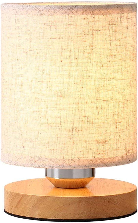 MON5F Home tischlampe Fütterungstisch Nachtlicht leseschlafzimmer nachttisch Hotel wei Holz E27 (Farbe  Wei)