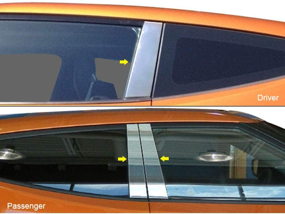 QAA fits 2013-2017 Hyundai Veloster Max 43% OFF Stainless Pillar NEW before selling ☆ Pos 3 Piece