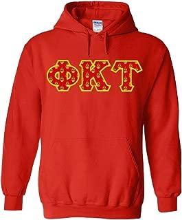 Phi Kappa Tau Fraternity Crest Twill Letter Hooded Sweatshirt