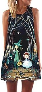 comprar comparacion Overdose 2019 Vestido MáS Popular Vintage Boho Mujeres Verano Sin Mangas Beach Impreso Corto Mini Vestido