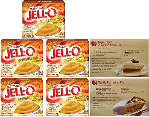 Kraft Jell-O Instant Pudding & Pie Filling, Pumpkin Spice, 3.4 Oz. (Pack of 5)