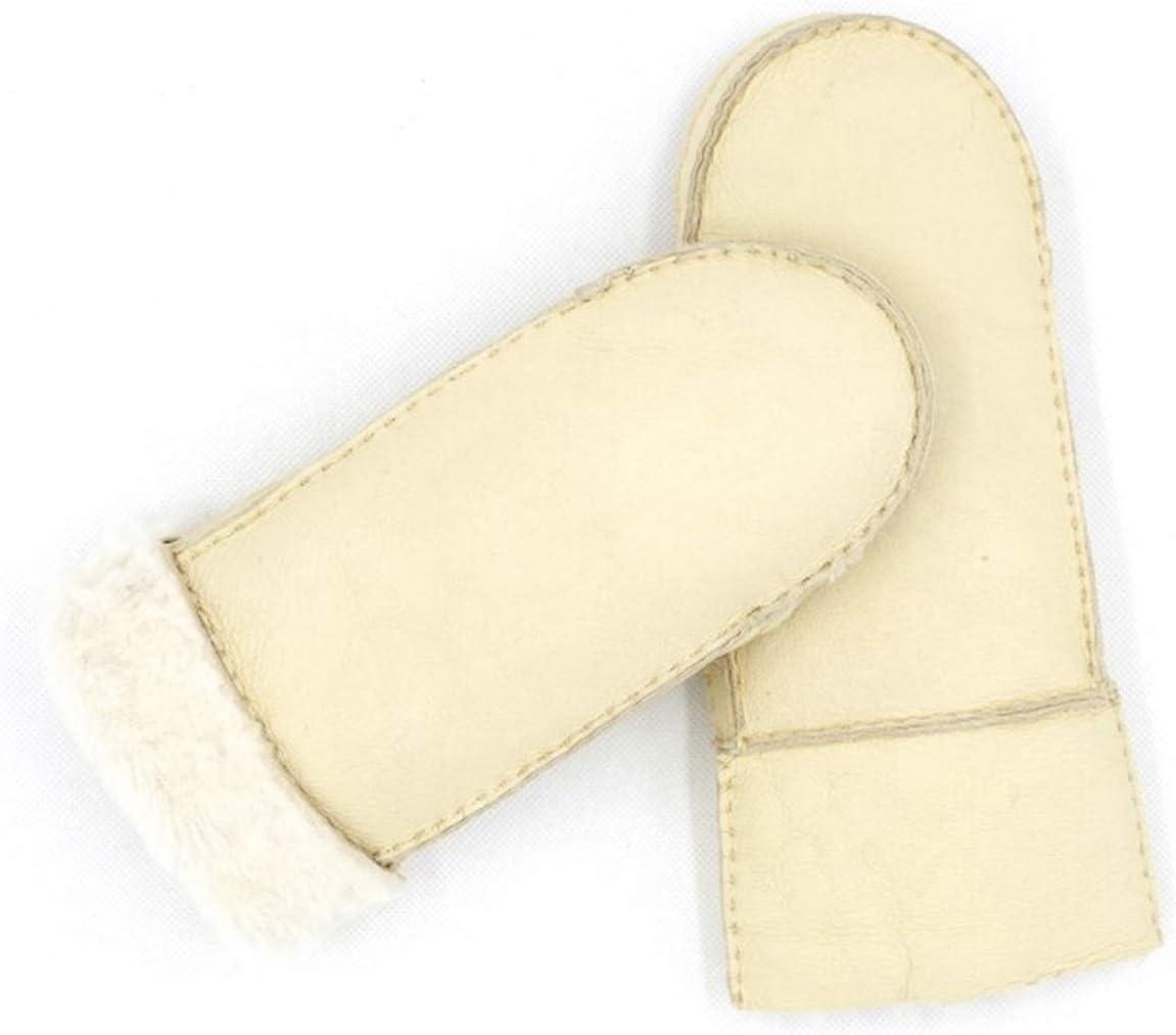 GUYANMAY Gloves Winter Thick Gloves Warm Mittens Fashion Ladies Outdoor Warm Gloves Warm (Color : Beige, Gloves Size : One Size)