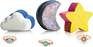 Fragrant Jewels Celestial Bath Bomb Trio with Collectible Rings (Size 5-10)
