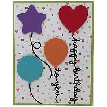 HAPPY BIRTHDAY BALLOON die cuts scrapbook cards