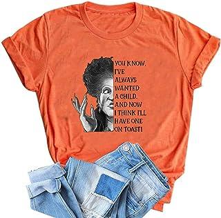 Hocus Pocus Squad T Shirt Halloween Graphic Tees for Women Hocus Pocus Fall Short Sleeve Tees Tops