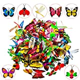 MOMOONNON 50 Pcs Butterfly Stakes, Dragonfly Stakes, Bee Stakes Butterfly Garden Stakes Waterproof Butterfly Decorations for Indoor/Outdoor Yard, Patio Plant Pot, Flower Bed